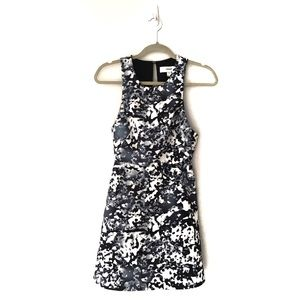 Cameo Black and White Print Fit and Flare Dress XS